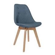 Стул TARIQ, голубой, деревянные ножки фото