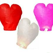 Комплект небесных фонариков сердец с 3 шт. фото