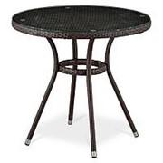 Плетеный стол T283ANT-W51-D80 Brown фото