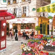 Салфетка для декупажа Кафе в Париже фото