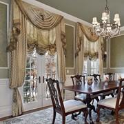 Пошив классических штор с ламбрекеном фото