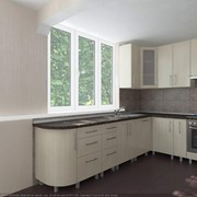 Кухня угловая светлая фото