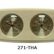Изогнутый прямоугольник термо-гигрометр фото
