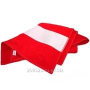 Полотенце 50х100см махровое красное(бордюр под нанесение 12см) фото