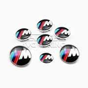 Набор эмблем M Style для BMW, в комплекте 7 шт фото