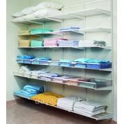Стеллажная система для хранения белья и полотенец фото