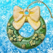 Новогоднее украшение Артикул: ЯП-2014-100 желтый бантик фото