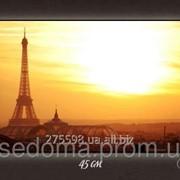 Картина с подсветкой Вид на Париж 29х45 фото