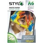 Бумага для струйной печати глянцевая STYLO 180г/м А6 500 листов фото