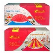 Салфетки бумажные цветные - интенсив, красные фото