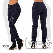 Женские спортивные штаны на манжете (3 цвета) - Синий ТЖ/-061 фото
