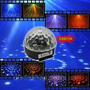 Световой LED прибор LanLing LXG116 RGBYW LED Crystal Disco Ball Light 6W с MP3 фото