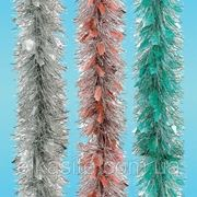 Мишура Новогодняя Зимняя Pastel — Серебро(п)/Бирюзовый фото