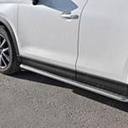Пороги Mazda CX-5 2017-наст.время (лист алюм. труба нерж. 42 мм) фото