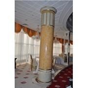Облицовка колонн искусственным камнем фото