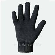 Перчатки рабочие трик. из х/б пряжи без точки чёрная двойная Арт. 540 фото