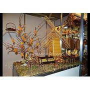 Оформление выставочных стендов - композиция из хлебобулочных изделий фото