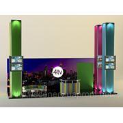 Дизайн выставочного бокса компании «4TV» фото