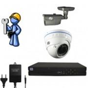 Видеонаблюдение Эконом 2 камеры для квартиры, офиса фото