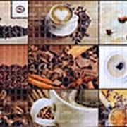 Листовая панель ПВХ Мозайка Кофейня 960*480мм фото
