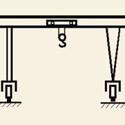 Кран козловой крюковый с электрической талью г/п 3,2т-16т фото