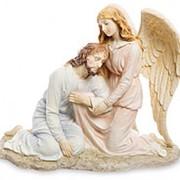 """Скульптура """"Иисус и Ангел"""" / Библейские сюжеты 23х21х10,5см. арт.WS-424/1 Veronese фото"""
