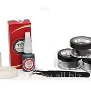 Материалы для наращивания ресниц, клей, дебондер, защитные наклейки под глаза, пинцеты фото