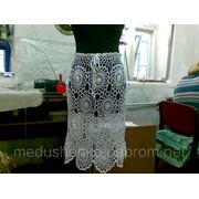 Вязание на заказ - Ажурная юбка из элементов. фото