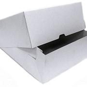 Коробка для торта от 1 до 3 кг белая Размер 255*255*105 мм. фото