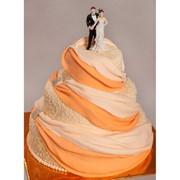 Торт весільний № 130 фото