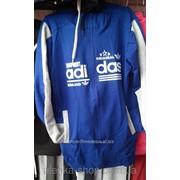 Подростковый спортивный костюм Adidas на 12-18 лет светло-серый с черным, код товара 107658292 фото