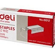Скобы для степлера Deli 0012 № 12 фото