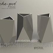 Кашпо из нержавеющей стали Perfect, поверхность шлифованная 23.7x23.7x54 см, Со съемным внутренним контейнером 23.7x23.7x54 см фото