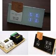 Гостиничная информационная табличка для номеров с энергосберегающим модулем фото