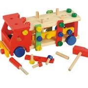 """Развивающая деревянная игрушка """"Конструктор машина"""" фото"""