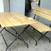 Стол и скамья для улицы фото