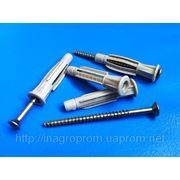 Дюбели 6х37mm универсальные узелковые, бурт, c универсальным шурупом, трехстороннего распора, типа ЖГУТ фото