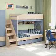 Детская комната Легенда 10 венге светлый/лен голубой фото