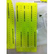 Шелкотрафаретная печать на виниловых браслетах фото