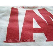 Печать на футболках шелкотрафарет фото