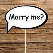 "Речевое облачко ""Marry me"" (Арт. F-140) фото"