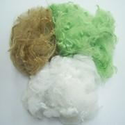 Отходы полиэфирного волокна и нитей. фото