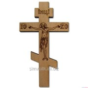 Крест деревянный, для автомобиля, 100х57мм, крепление - двусторонний скотч фото