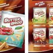 """Сухарики пшенично-ржаные ТМ """"BUTTERBROD"""" фото"""