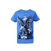 Модная футболка голубого цвета с орлом 6 фото