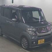 Микровэн турбо HONDA N BOX CUSTOM кузов JF1 класса минивэн модификация G TURBO гв 2012 пробег 128 т.км серый фото