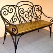 Мебель кованая уличная. фото