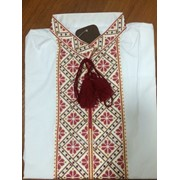 Патриотическая рубашка с вышивкой для мужчин (Б-50) фото
