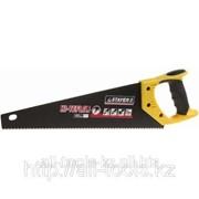 Ножовка Stayer HI-TEFLON по дереву, 2-комп. пласт. ручка, тефлон.покрыт, закаленный универс. зуб, 7 TPI Код: 2-15081-40 фото