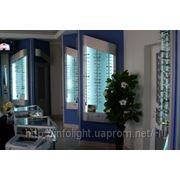 Светодиодное освещение торговых витрин для магазинов Оптика фото